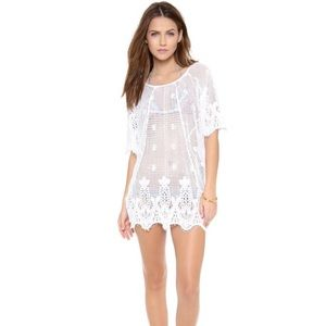 MIGUELINA Jessica Scallop Lace Cover Up